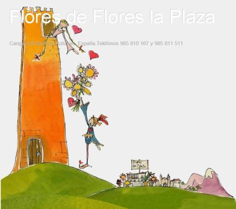 Flores. Flores La Plaza. Cangas del Narcea